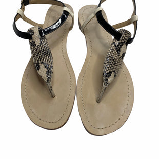 Primary Photo - BRAND: SAKS FIFTH AVENUE STYLE: SANDALS FLAT COLOR: SNAKESKIN PRINT SIZE: 8 SKU: 299-29929-52205