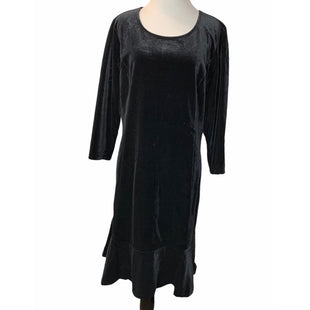 Primary Photo - BRAND: ISAAC MIZRAHI LIVE QVC STYLE: DRESS SHORT LONG SLEEVE COLOR: BLACK SIZE: 16 OTHER INFO: VELVET NEW WITH TAGS SKU: 299-29975-211