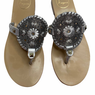 Primary Photo - BRAND: JACK ROGERS STYLE: SANDALS FLAT COLOR: SILVER SIZE: 8 SKU: 299-29929-52198