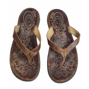 Primary Photo - BRAND:   OLUKAISTYLE: SANDALS FLAT COLOR: BROWN SIZE: 9 OTHER INFO: OLUKAI - SKU: 299-29950-12254