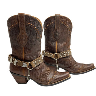Primary Photo - BRAND: ARIAT STYLE: BOOTS ANKLE COLOR: BROWN SIZE: 6.5SKU: 299-29929-49397•LEATHER