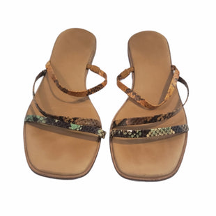 Primary Photo - BRAND: MADEWELL STYLE: SANDALS FLAT COLOR: SNAKESKIN PRINT SIZE: 8 SKU: 299-29929-60467