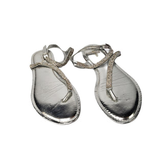 Primary Photo - BRAND: CALVIN KLEIN STYLE: FLIP FLOPS COLOR: SILVER SIZE: 10 SKU: 299-29950-11814