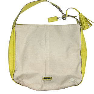 Primary Photo - BRAND: COACH STYLE: HANDBAG DESIGNER COLOR: CHARTREUSE SIZE: MEDIUM SKU: 299-29950-8298•HAS A FEW LIGHT STAINS ON CANVAS.