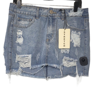 Primary Photo - BRAND:    CLOTHES MENTOR STYLE: SKIRT COLOR: DENIM SIZE: M OTHER INFO: LITZ - SKU: 299-29929-58240