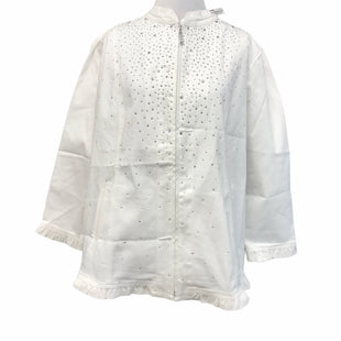 Primary Photo - BRAND: QUAKER FACTORY STYLE: BLAZER JACKET COLOR: WHITE SIZE: L OTHER INFO: NEW WITH TAG SKU: 299-29950-9305