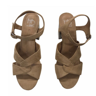 Primary Photo - BRAND: NEW DIRECTIONS STYLE: SANDALS HIGH COLOR: SNAKESKIN PRINT SIZE: 9.5 SKU: 299-29929-57839