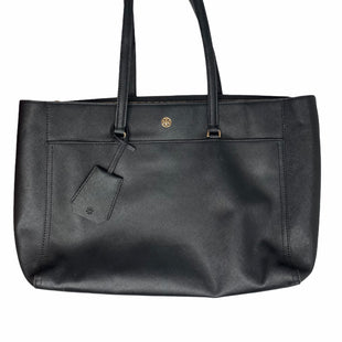 Primary Photo - BRAND: TORY BURCH STYLE: HANDBAG DESIGNER COLOR: BLACK SIZE: LARGE SKU: 299-29950-104279 POCKETS! 1 LARGE MIDDLE DIVIDER ZIPPERED POCKET 18 INCHES WIDE 11 INCHES TALL 10 INCHES STRAP DROP