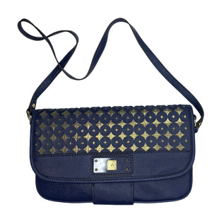 "Primary Photo - BRAND: ANNE KLEIN STYLE: HANDBAG COLOR: BLUE SIZE: MEDIUM SKU: 299-29974-1275•MEASURES APPROXIMATELY 11"" X 7"" H.•AND MADE MATERIALS."