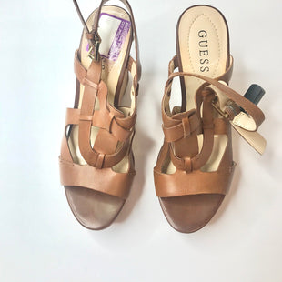 Primary Photo - BRAND: GUESS STYLE: SANDALS HIGH COLOR: CAMEL SIZE: 6 SKU: 299-29950-6922SHOES LIKE NEW  LIGHTLY WORN PRICE TAG TAPE STILL ON SHOE
