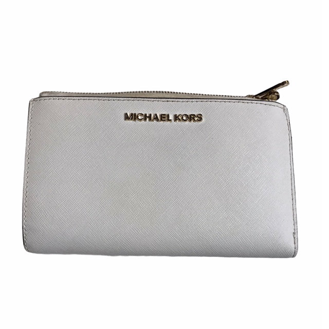 Primary Photo - BRAND: MICHAEL BY MICHAEL KORS <BR>STYLE: WALLET <BR>COLOR: OFF WHITE <BR>SIZE: MEDIUM <BR>OTHER INFO: AS IS; STRAP MSNG <BR>SKU: 299-29929-58209