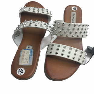 Primary Photo - BRAND: STEVE MADDEN STYLE: SANDALS FLAT COLOR: WHITE SIZE: 10 SKU: 299-29950-9404