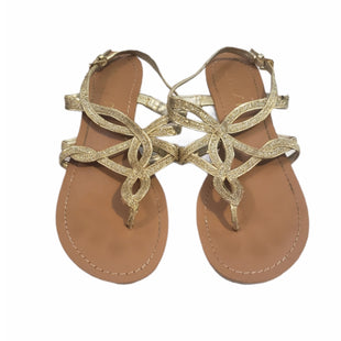 Primary Photo - BRAND: UNISA STYLE: SANDALS FLAT COLOR: GOLD SIZE: 7.5 SKU: 299-29950-12483