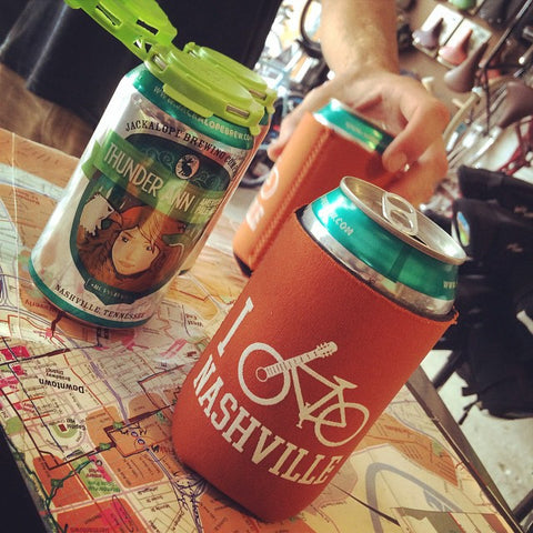 I Bike Nashville Koozie - 4 pack (beer not included)