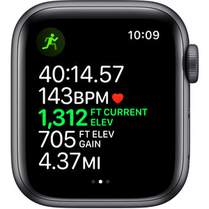Apple Watch Series 5 (GPS + Cellular) 40mm Space Gray Aluminum Case with Black Sport Band - Space Gray Aluminum - Cellfixt Phone & Computer Repair Service