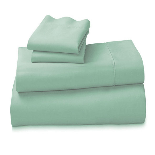 Arabella 100% Cotton 1000TC King Sheet Set Sage