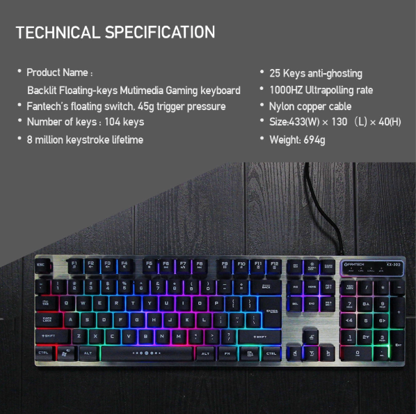 Wired Gaming Mouse And Keyboard Combo KX-302 Major - Store Zone-Online Shopping Store Melbourne Australia