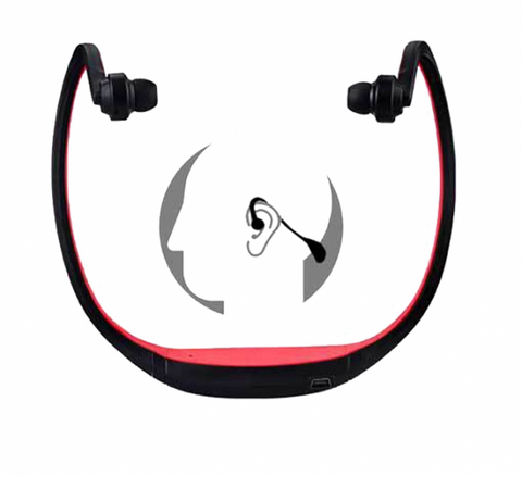 Red Wireless Neckband S9 Headset - Store Zone-Online Shopping Store Melbourne Australia
