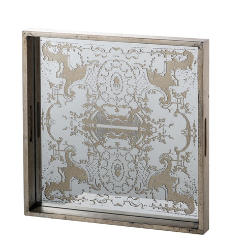 Regal Mirrored Square Tray