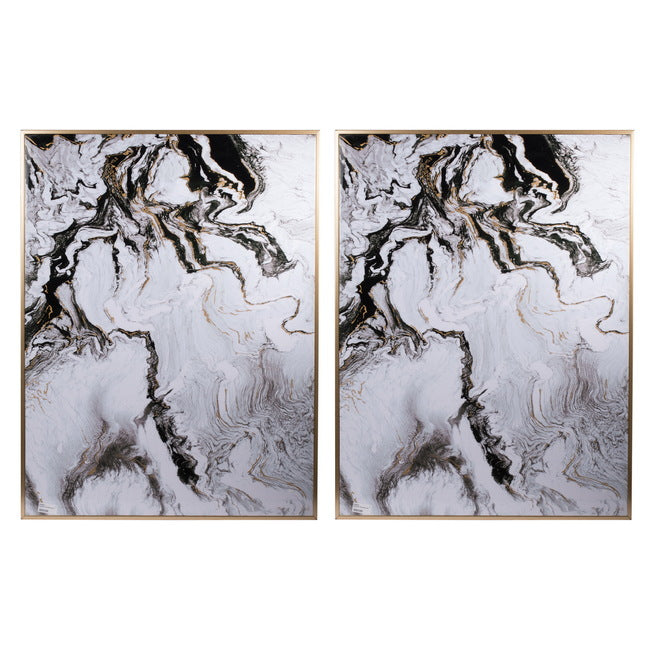 Marbled Print Wall Art Set of 2 Medium