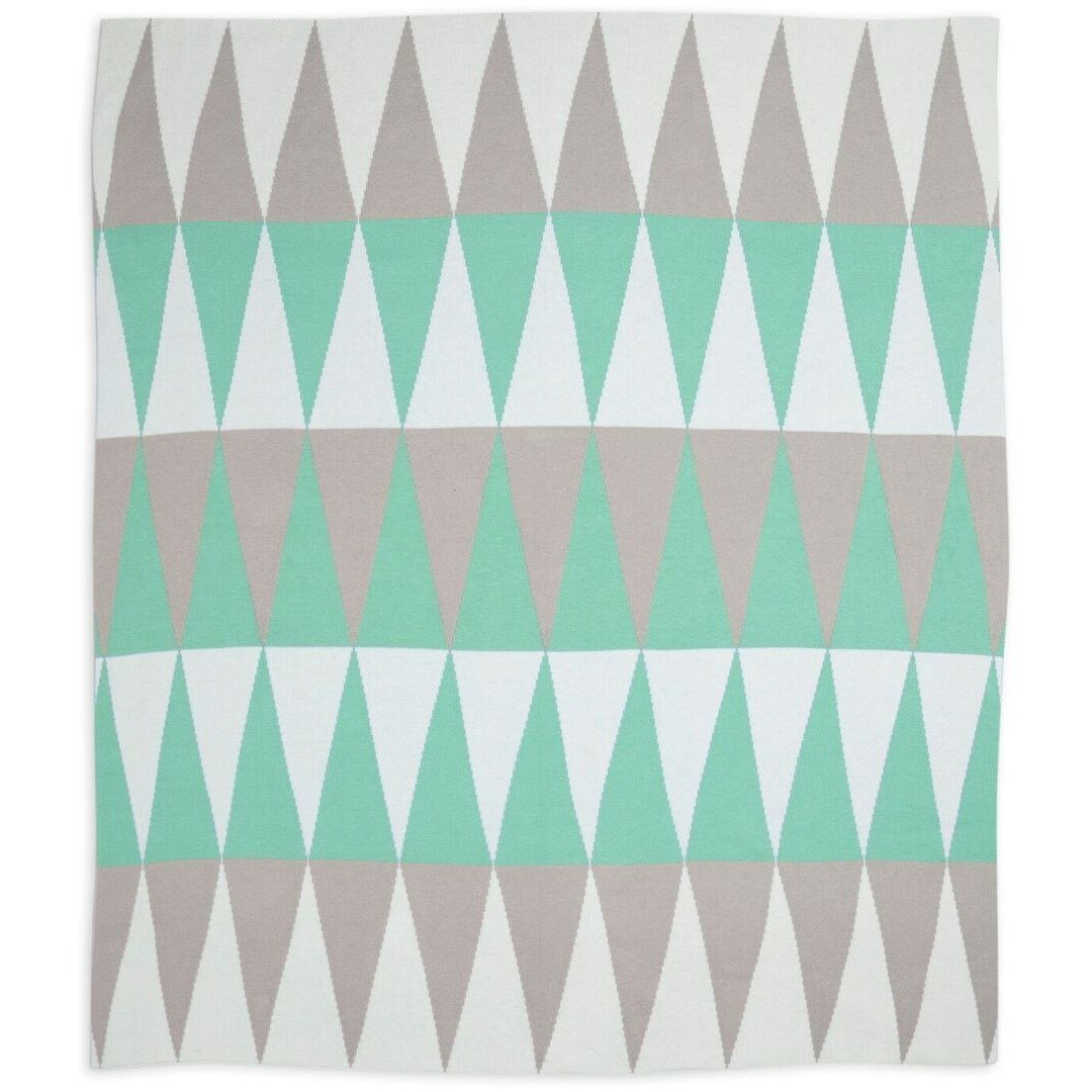 Weegoamigo Cotton Knitted Blanket - Ziggy Green