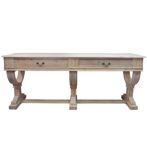 Curtis 2 Drawer Large Console Natural Reclaimed timber