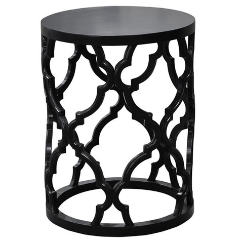 Mustique Side Table Black reclaimed timber