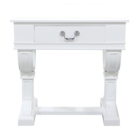 Curtis Decorator Bedside Table White