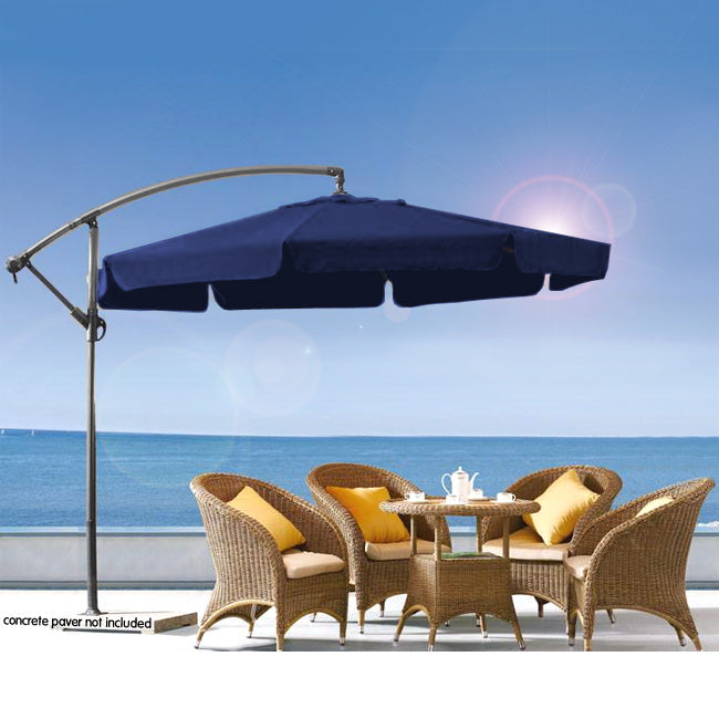Wallaroo 3m Cantilever Market Umbrella - Blue