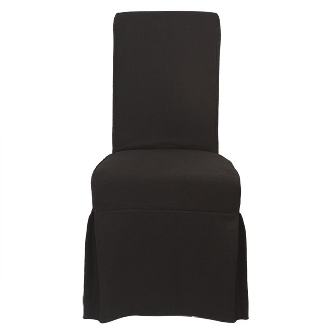 Slip Cover  Nantucket for Dining Chair Black