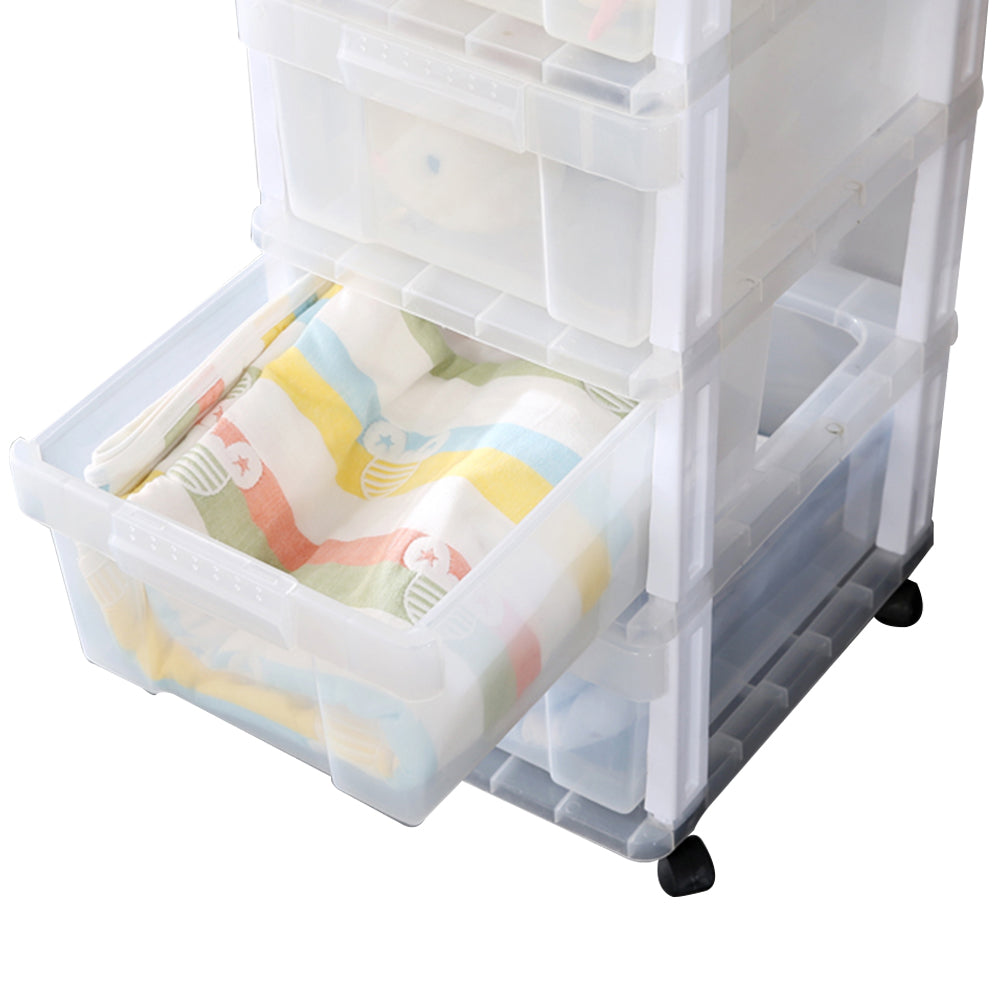4 Drawer Rolling Storage Cart Scrapbook Paper Office School Organiser