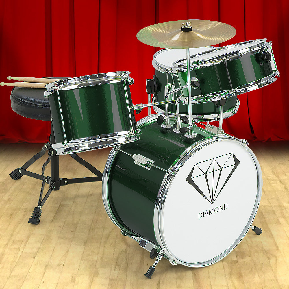 Children's 4pc Drumkit - Green