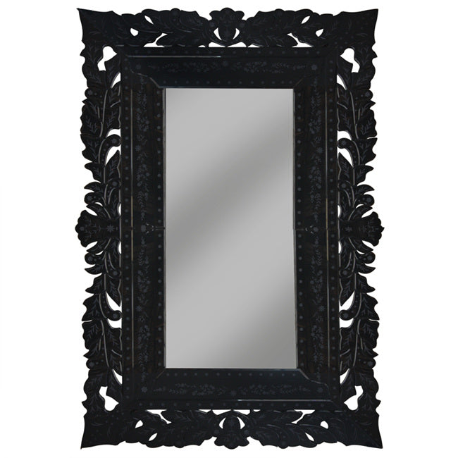 Luxury French Lace Black Mirror Huge Floor Wall