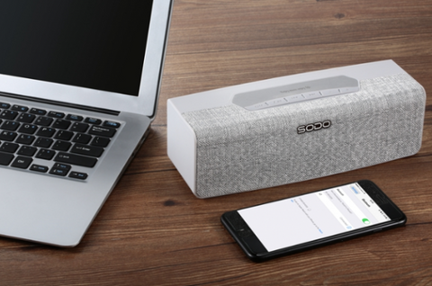 Silver Wireless Bluetooth Speaker Bluetooth V4.2 Portable Wireless - Store Zone-Online Shopping Store Melbourne Australia