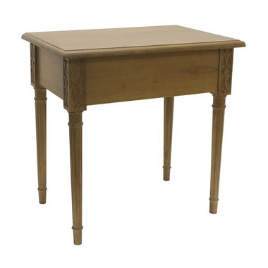 side table bedside mindi wood hidden draw Alba ex display
