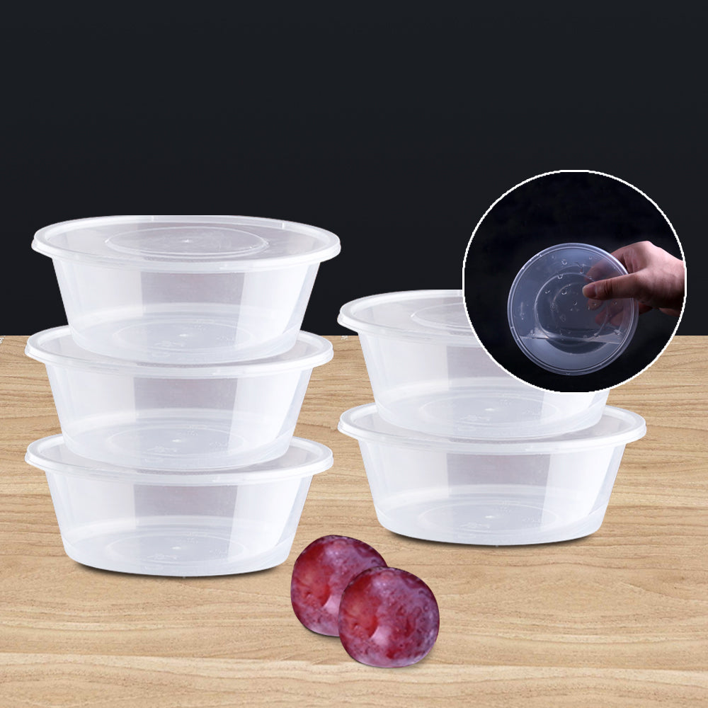 50pcs 300ml Take Away Containers With Lids