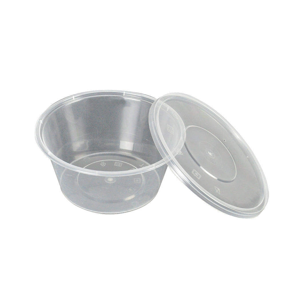 50 X 750 Ml Take Away Containers Round With Lids