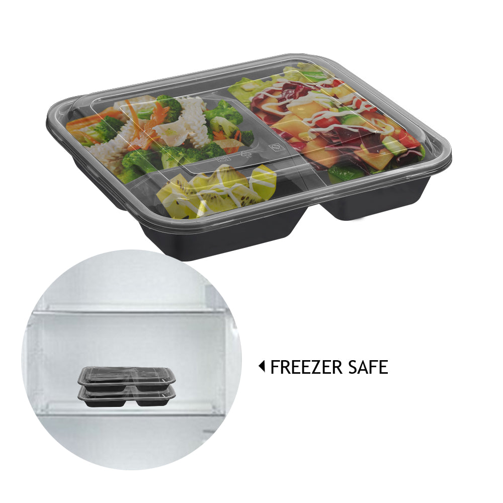 50 Microwave Safe Plastic Container Lunch Box 1000ml