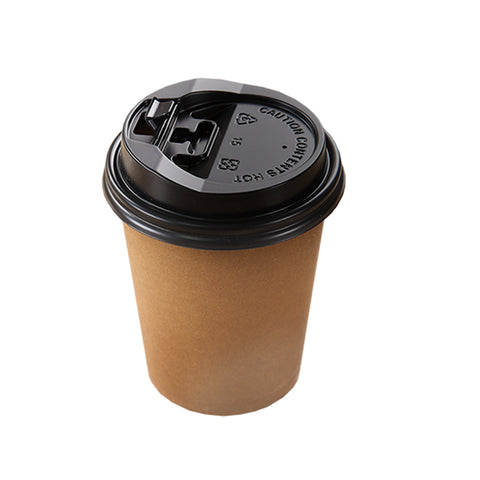 100pcs Double Wall Paper Cups With Lids Stirrers 20oz