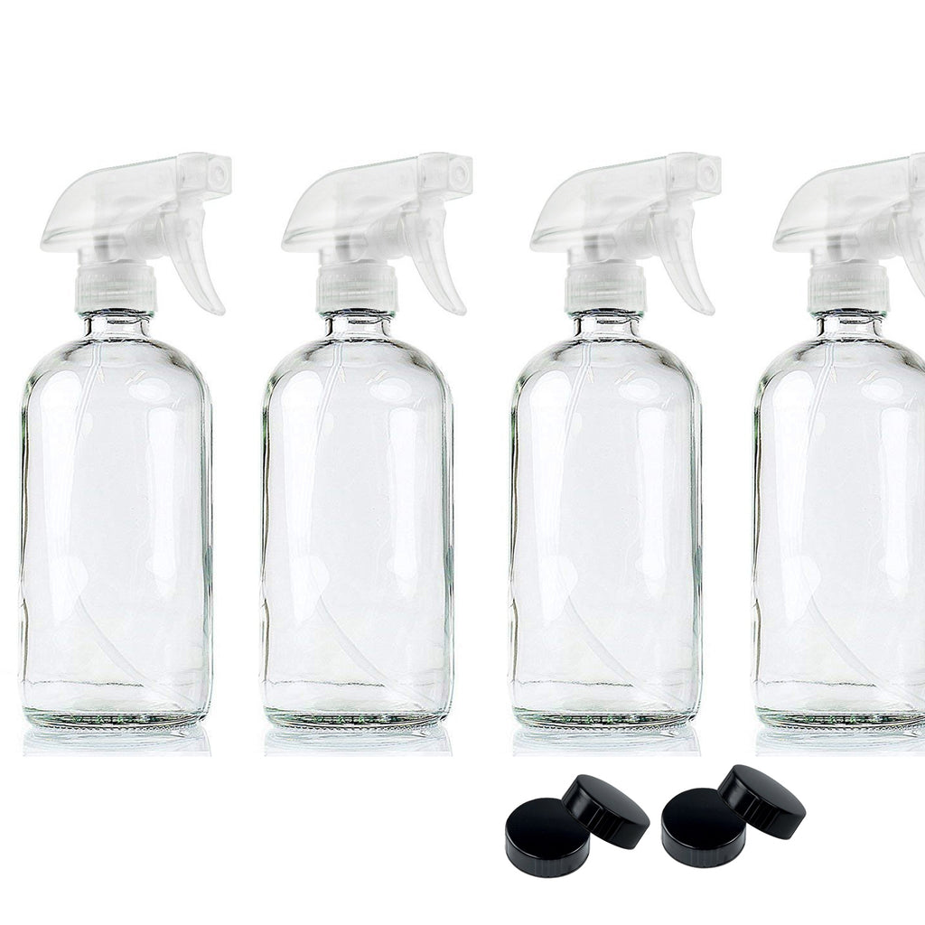 4/6 Pcs 500ml Crystal Clear Glass Spray Bottles