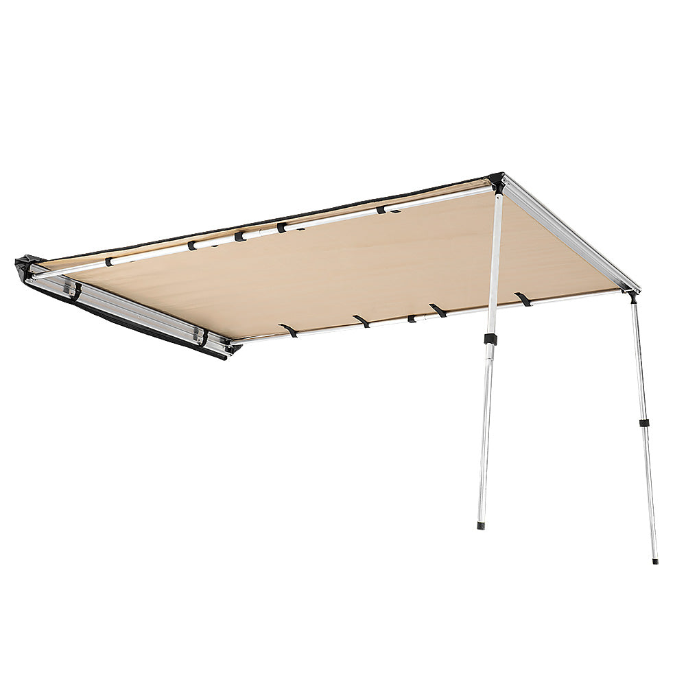 Wallaroo 2m x 1.4m Car Side Awning Roof Top Tent - Sand