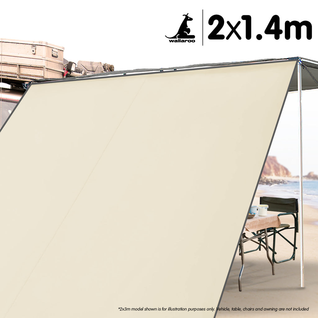 Wallaroo 2m x 1.4m Car Awning Extension - Sand