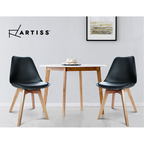 Artiss Set of 2 Padded Dining Chair - Black