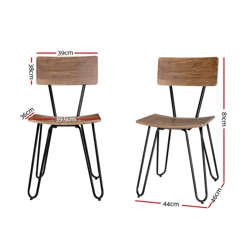 Artiss 4x Retro Dining Chiars Kitchen Living Room Cafe Bentwood Wooden