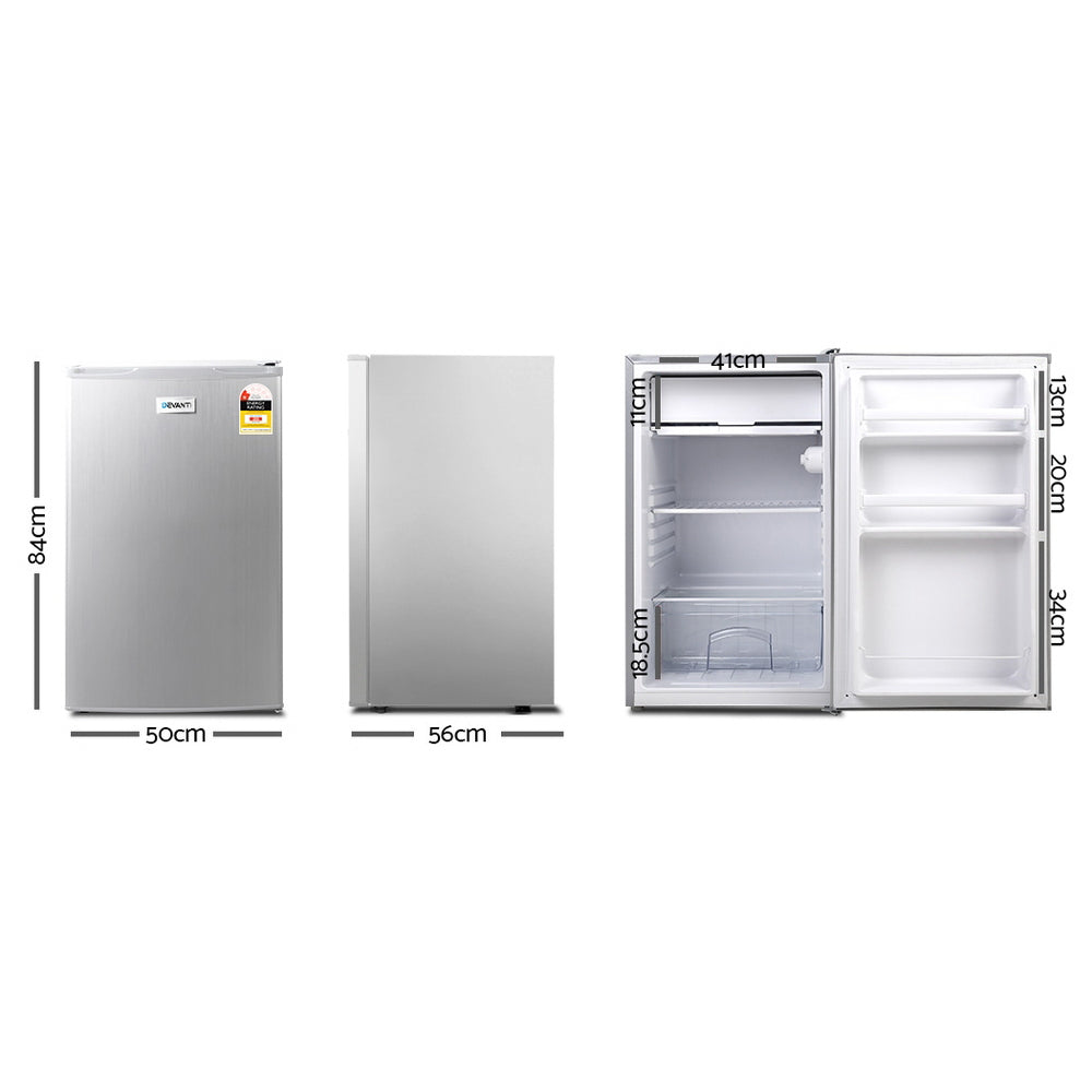 Devanti 127L Bar Fridge - Silver