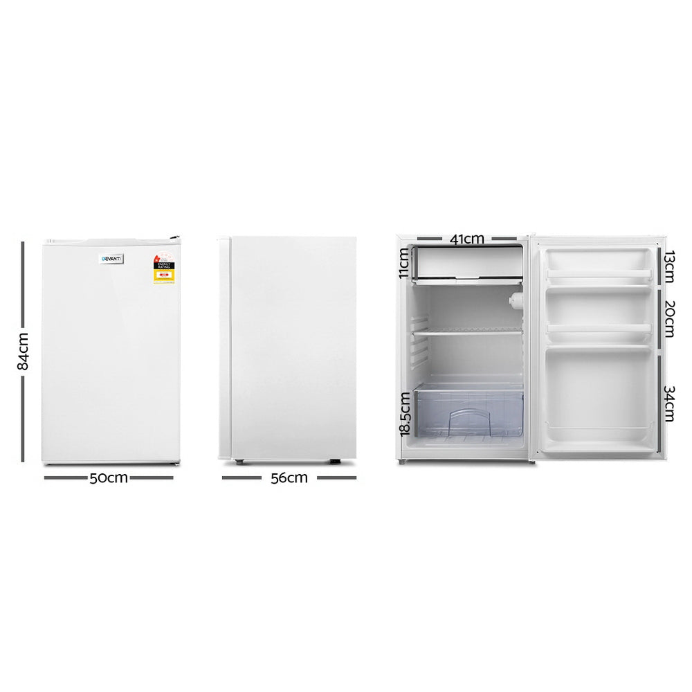 Devanti 127L Bar Fridge - White