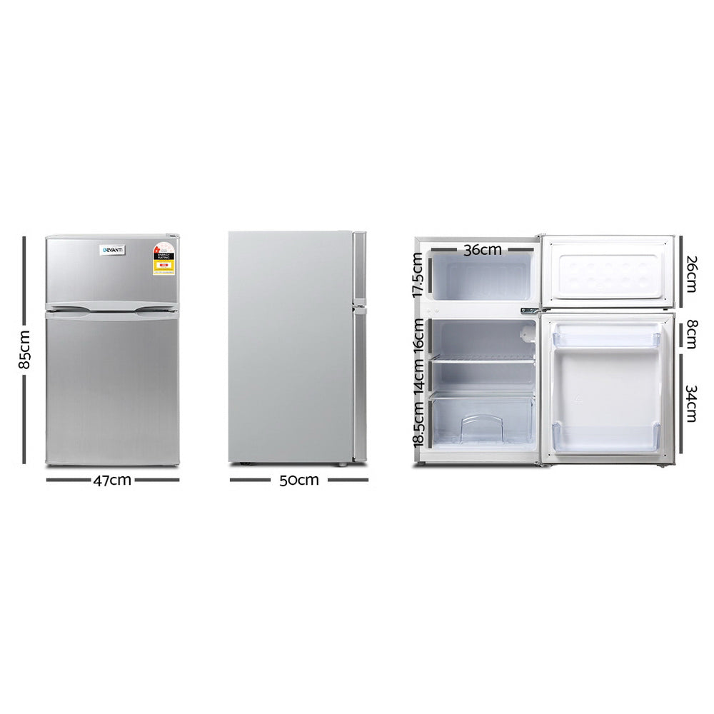Devanti 85L Bar Fridge - Silver