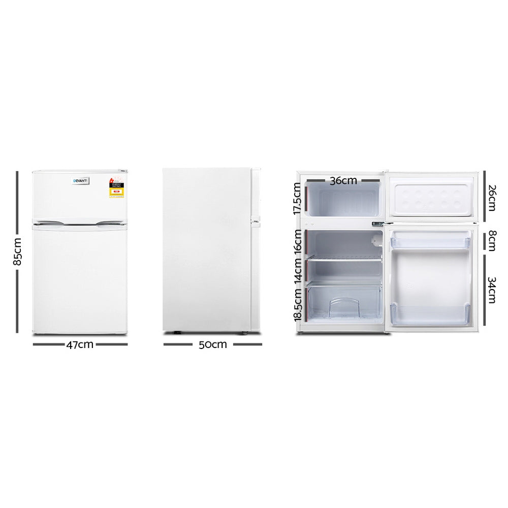 Devanti 85L Bar Fridge - White