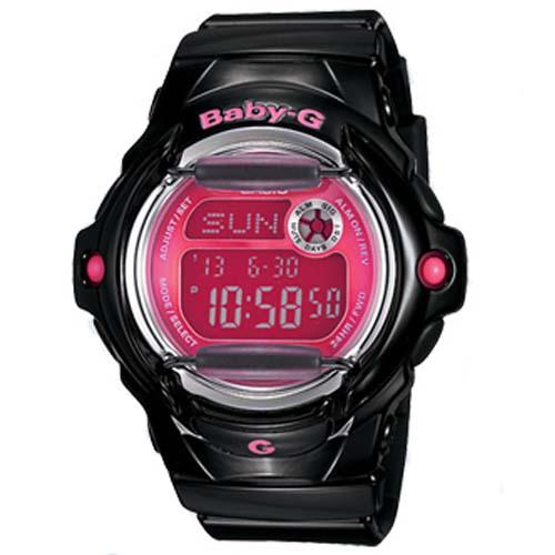 Casio Baby-G Female Digital Black/Pink Watch BG-169R-1B BG-169R-1BDR