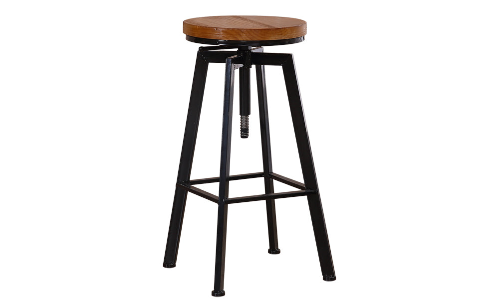 1 X Vintage Retro Industrial Swivel Bar Stool